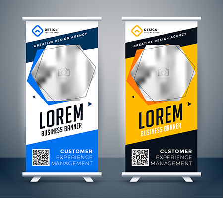 Unique retractable banners sample by Amazing Signs
