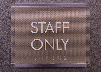 Staff Only ADA Signs in Tampa, Florida
