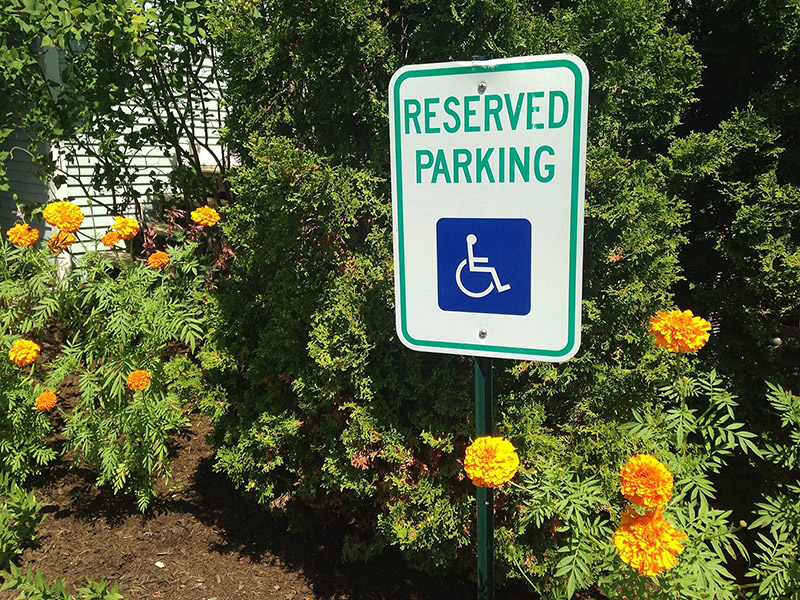 Custom tenant parking only signs