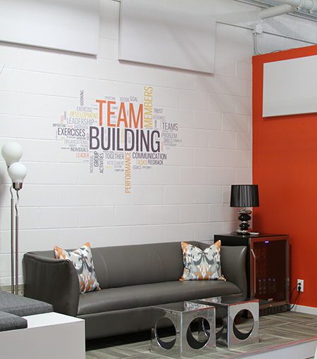 Customized office wall graphics