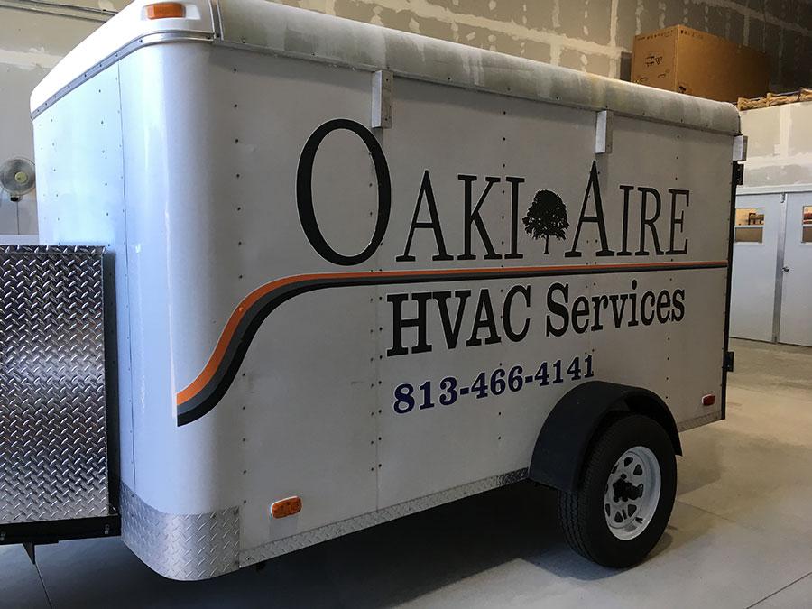 OakiAiri custom trailer wraps and decals in Tampa, FL