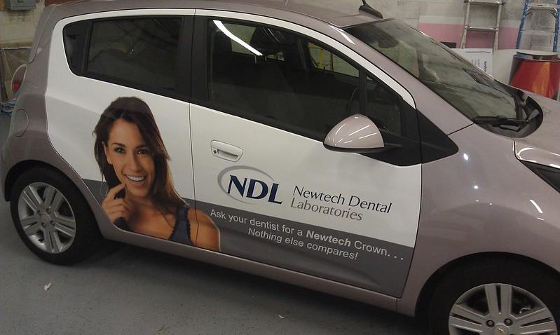 NDL advertising car wraps in Tampa, FL