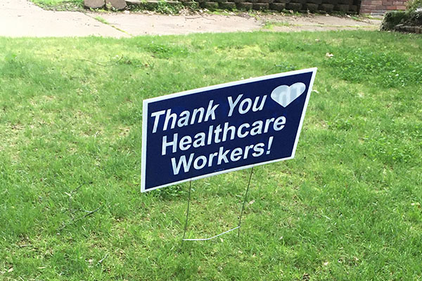 Thank you yard signs in Tampa, FL